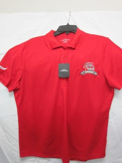 50TH ANNIVERSARY GOLF SHIRT RED